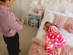 Lying Babysitter Gets Creampied
