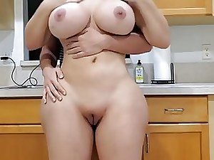 Yam-Sized donk housewife with thick milk bumpers is having casual fucky-fucky with her step- son-in-law